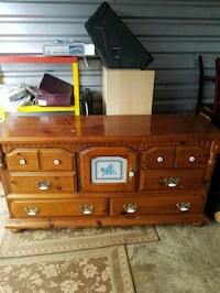 Antique Solid Wood Dresser with 6 Drawers  Kent, 98032