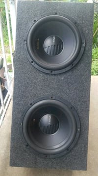 black and gray subwoofer speaker Toledo, 43608