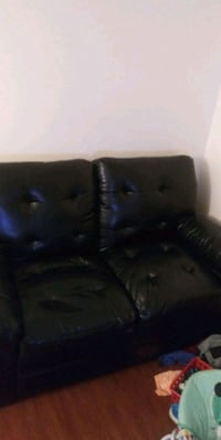 black leather tufted sofa chair Washington, 20019