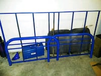 Twin blue metal bed frame  809 mi