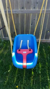 Blue and red Little Tikes swing chair Calgary, T2Z 4W7