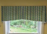 Green and Blue Patterned Window Curtain Lockport, 14094