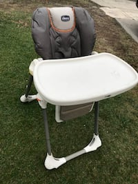 baby's white and gray high chair 2274 mi