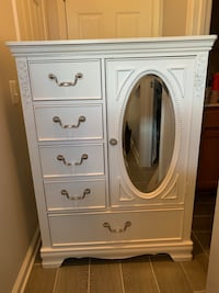 White dresser very good conditio. Dimensions- width: 3ft, height: 4ft, depth : 17""