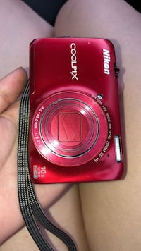red Nikon Coolpix point-and-shoot camera Mobile, 36608