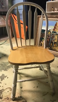 white and brown wooden windsor chair Baltimore, 21210