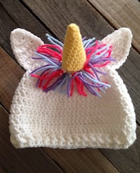 New- Crochet Unicorn Hat 409 mi