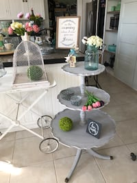 3 Tiered Farmhouse Style Table Antique