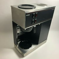 Commercial Coffee Brewer 12-Cup Pourover with Upper and Lower Warmers Burke
