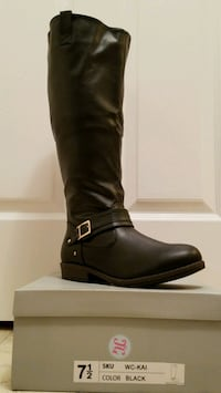 NEW Black 7.5 Wide Calf Boot  Olney, 20832