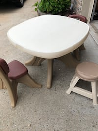 Step 2 child's  table and 2 chairs 1 stool Jacksonville, 72076
