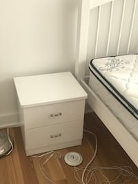 Night stand+bed frame+premium mattress (also can be sold separately)