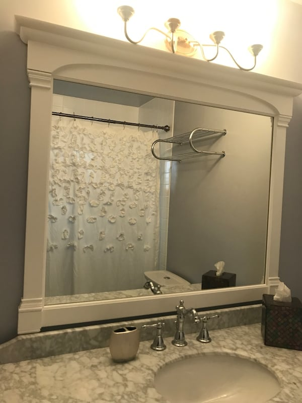 Used Wooden Bathroom Mirror For In
