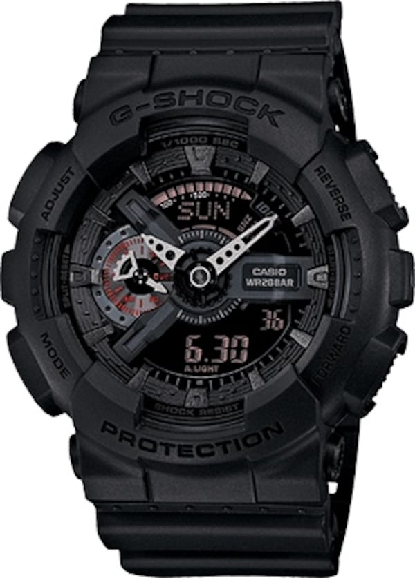 CASIO G-SHOCK military watch GA-110MB black with red accents 52393dfd-b2cc-4d41-b4f8-a0c66693a5ef