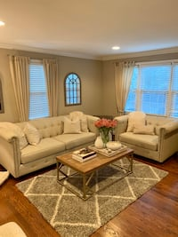 Beige Tufted Sofa and Loveseat  Baltimore, 21212