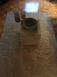 Stone glass Coffee table and side table  Vaughan, L6A 1J1