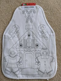 New Canvas (color your own) Kids Apron Frederick, 21702