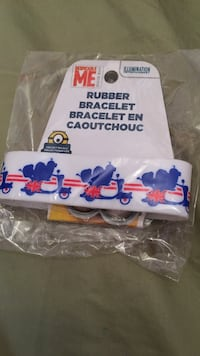 white, red, and blue rubber bracelet Brantford, N3T 0A4