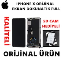 APPLE İPHONE X ORİJİNAL EKRAN DOKUNMATİK FULL 5D CAM HEDİYELİ