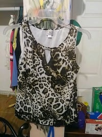 black and white leopard print tank top