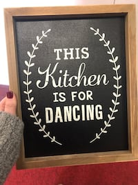 Wood wall decor - and kitchen chalk sign