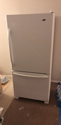 white bottom-mount refrigerator 23 mi