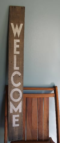 Large Wooden Welcome Sign Mechanicsville