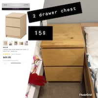 brown wooden 2-drawer chest Ancaster, L9K 1M3