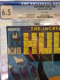 INCREDIBLE HULK #340 COMIC BOOK KEY ISSUE CGC AUTHENTICATED *WOW* Los Angeles, 91423