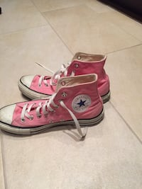 white and pink converse all star high top sneakers Vancouver, V6H