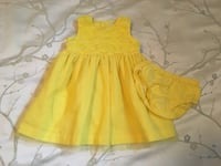 Girls 12 Month Bright Yellow Dress Calgary