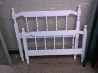 white wooden headboard and footboard Birmingham, 35209