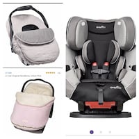 New, unused.. all in one car seat and car seat covers
