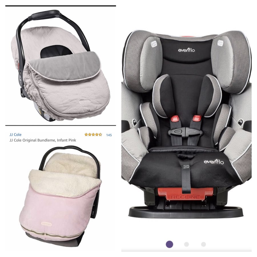 New, unused.. all in one car seat and car seat covers  da26587c-9d5f-4e38-ad7d-f3fc265ba1a6