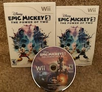 Wii Disney Epic Mickey 2 The Power Of Two  EUC  game disc case and man Newmarket