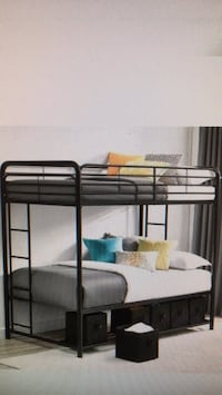 Brand new Twin over Twin Bunk Bed with Storage Bins Black  Pineville, 28134