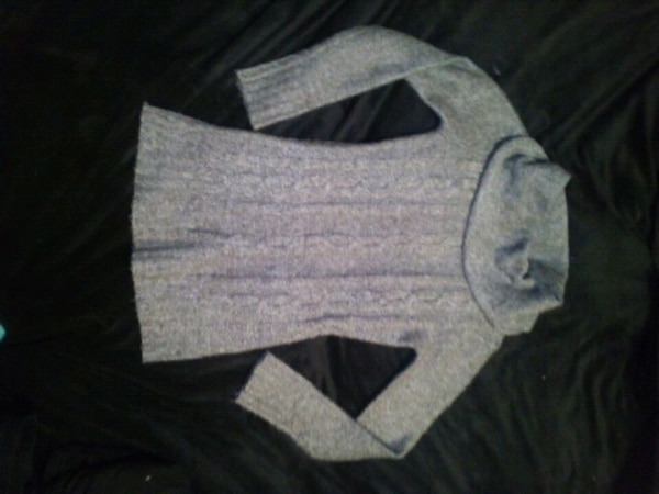 Grey wool sweater/dress