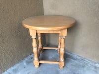 Round brown wooden side table Aliso Viejo, 92656