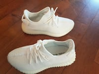 pair of white Adidas Yeezy Boost 350 Vancouver, V5W 2Z7