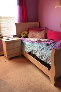 bed with mattress and box spring