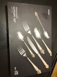 Brand new black and gray cutlery set box Montréal, H8N 1Z7