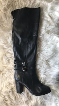 Elmore black tall leather boots (37) Boulogne-Billancourt, 92100