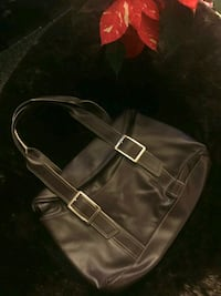 black and brown leather bag Monterey