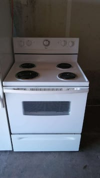 white electric coil range oven