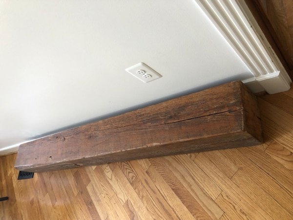 Reclaimed Barnwood Beam. Can be your Fireplace Mantel