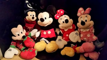 5 Mickey & Mini Mouse Rare/Vintage Stuffed Animals