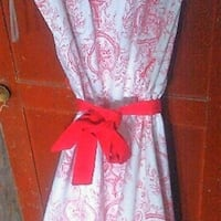 LE CHATEAU red white sleeveless dress Whitby