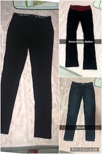 three black sweatpants 2470 km