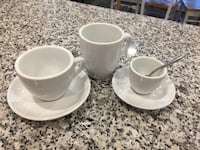 Barista white set of different cups Fairfax, 22032