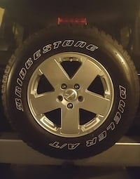 Bridgestone tires and jeep wheels